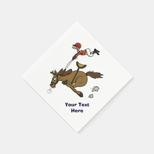 Funny Horse Race Party Paper Napkin