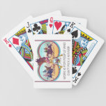 Funny Horse Racing – Work is For People Who Can't Bicycle Playing Cards