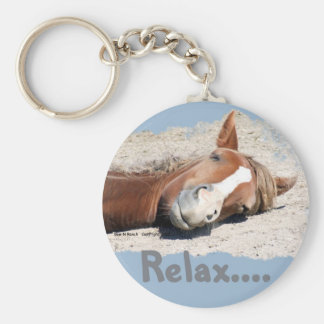 Funny Horse: Relax Keychain