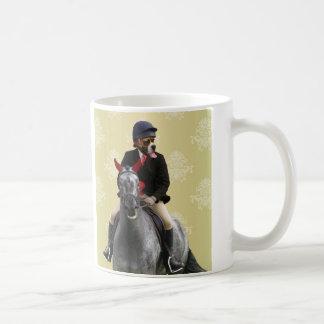 Funny horse rider character coffee mug