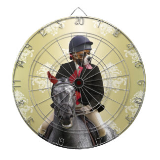 Funny horse rider character dartboard with darts