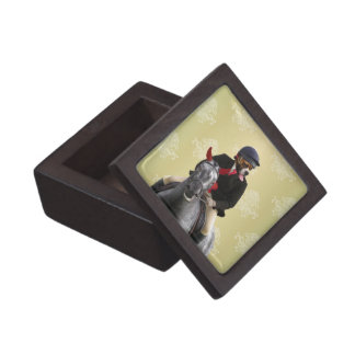 Funny horse rider character gift box