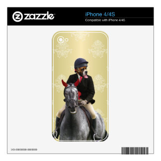 Funny horse rider character iPhone 4S skins