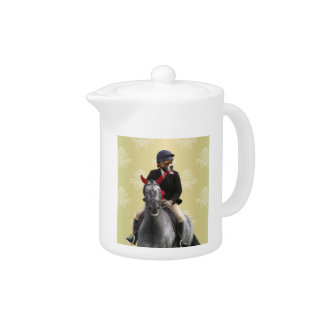 Funny horse rider character teapot