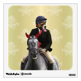 Funny horse rider character wall decal
