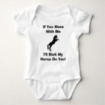 Funny Horse Sayings Baby Bodysuit
