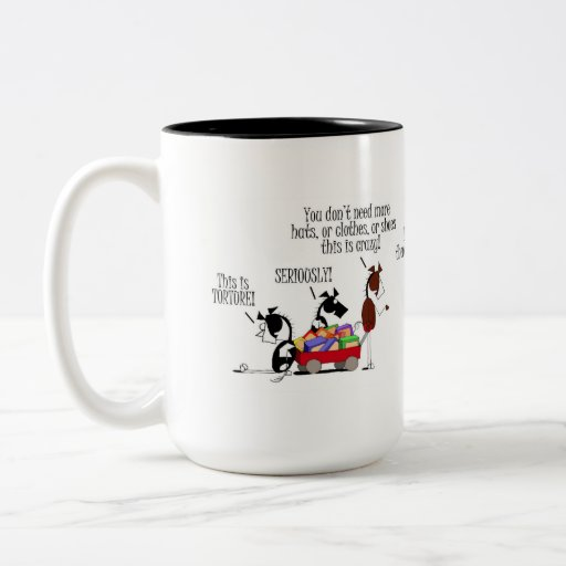 Funny Horse Shoe Shopping Cartoon Coffee Mugs Zazzle