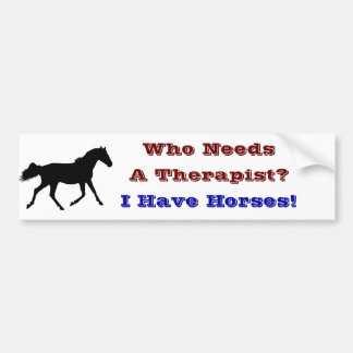 Funny Horse Therapist Bumper Sticker