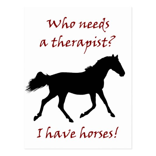 Funny Horse Therapist Postcard