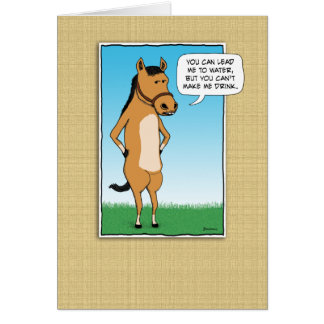 Funny Horse Wants Margaritas Card