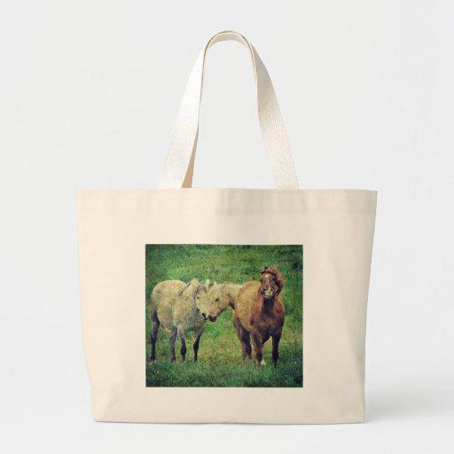 Funny Horses Canvas Bag