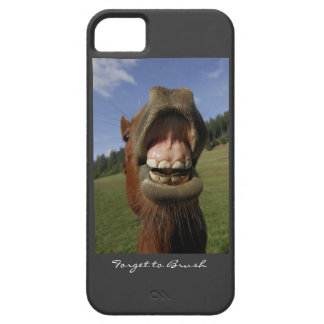 Funny Horse's Mouth Forget to Brush iPhone SE/5/5s Case