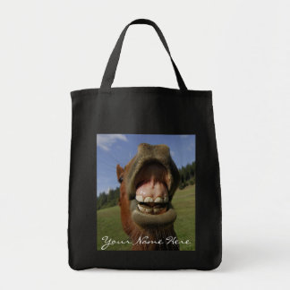 Funny Horse's Mouth Forget to Brush Tote Bag