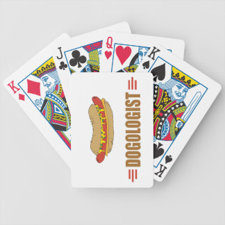 Funny Hot Dog Bicycle Playing Cards