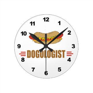 Funny Hot Dog Round Wallclock