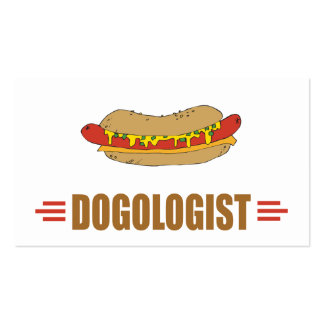 Funny Hot Dog Double-Sided Standard Business Cards (Pack Of 100)
