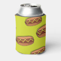 Funny Hot Dog Food Design Can Cooler