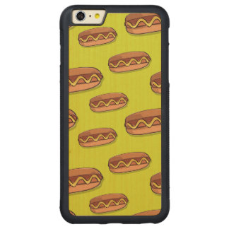 Funny Hot Dog Food Design Carved Maple iPhone 6 Plus Bumper Case