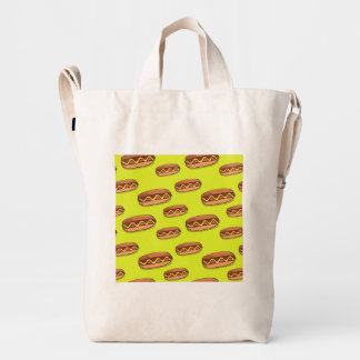 Funny Hot Dog Food Design Duck Bag