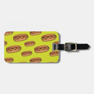 Funny Hot Dog Food Design Luggage Tag