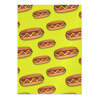 Funny Hot Dog Food Design Magnetic Card