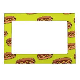 Funny Hot Dog Food Design Magnetic Photo Frame