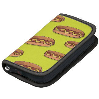Funny Hot Dog Food Design Folio Planner