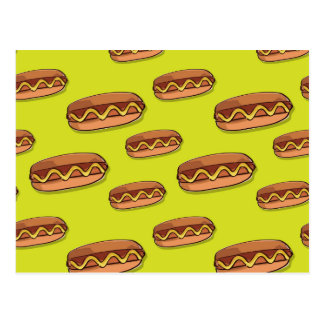 Funny Hot Dog Food Design Postcard