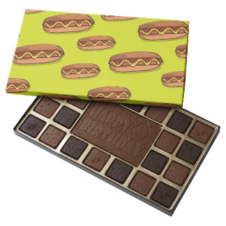 Funny Hot Dog Food Design 45 Piece Box Of Chocolates