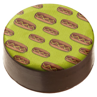 Funny Hot Dog Food Design Chocolate Dipped Oreo