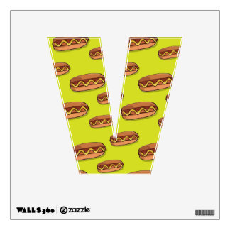 Funny Hot Dog Food Design Wall Decal