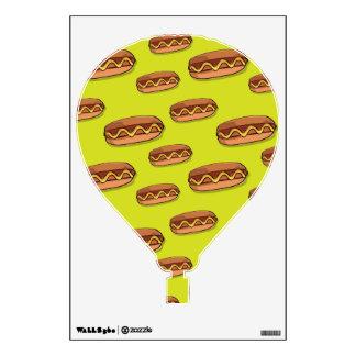 Funny Hot Dog Food Design Wall Sticker