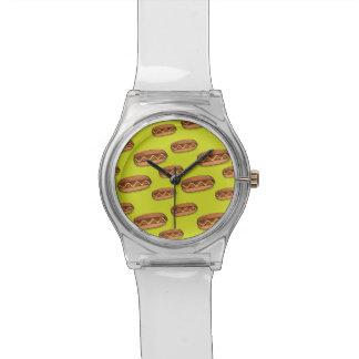 Funny Hot Dog Food Design Wrist Watch