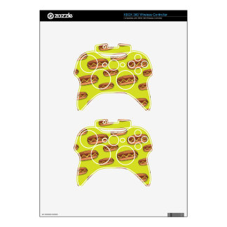 Funny Hot Dog Food Design Xbox 360 Controller Skin