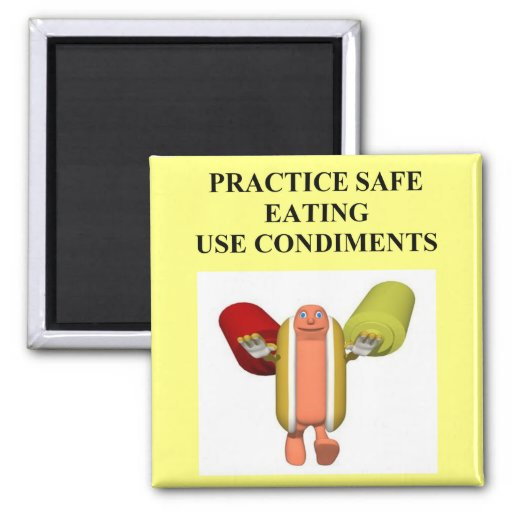 Funny Hot Dog Food Joke Fridge Magnets Zazzle