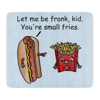 Funny Hot Dog French Fries Food Pun Cutting Board