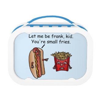 Funny Hot Dog French Fries Food Pun Lunch Box