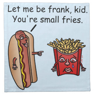 Funny Hot Dog French Fries Food Pun Napkin