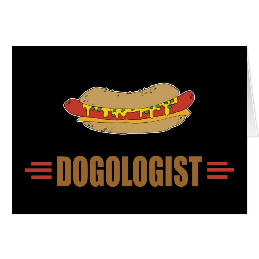Funny Hot Dog Greeting Card