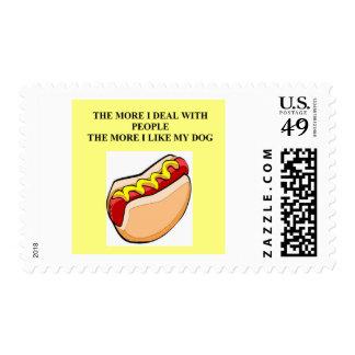 funny hot dog joke postage