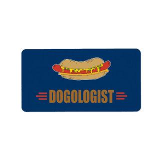Funny Hot Dog Label