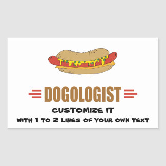 Funny Hot Dog Rectangular Sticker