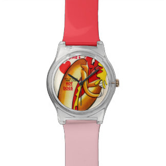 Funny Hot Dog Vintage Valentine's Day Watches