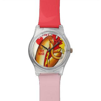 Funny Hot Dog Vintage Valentine's Day Wrist Watch