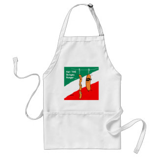 Funny Hot Dogs and Bologna Cartoon BBQ Apron