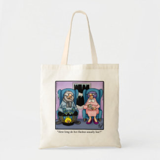 "Funny ""Hot Flashes"" Humor Tote Bag ""Spectickles"""