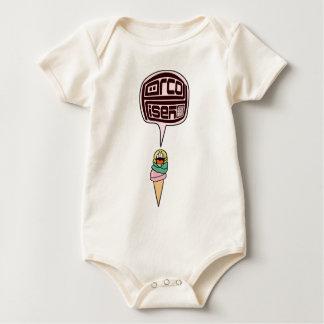 Funny Hot Summer Scoop Cone I Scream Ice Cream Baby Bodysuit