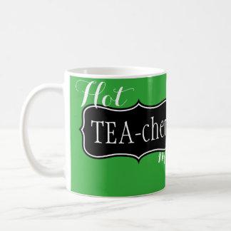 Funny Hot Teacher  Tea Mug in Green