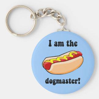 Funny hotdog basic round button keychain