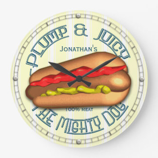 Funny Hotdog Personalized Kitchen Clock